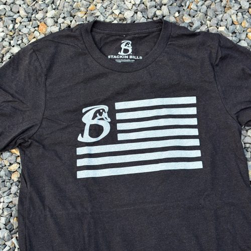 Us Flag Heather Black