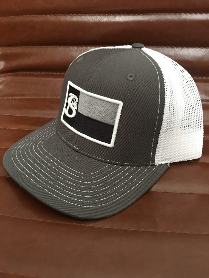 Grey Texas Flag Patch Cap