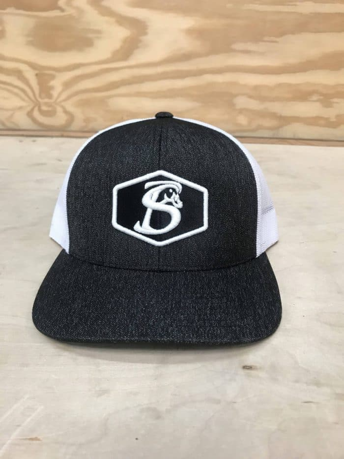 ORIGINAL HEX BLACK HEATHER AND WHITE SNAPBACK