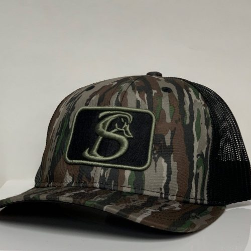REAL TREE CAMO AND BLACK SNAPBACK HAT