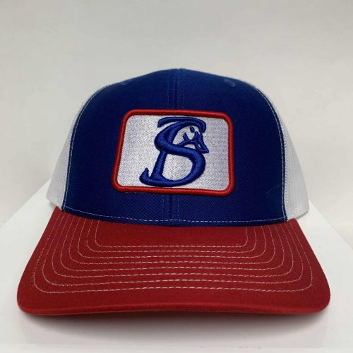 red white and blue SB patch hat