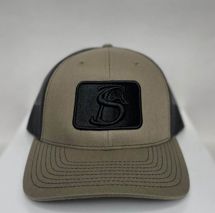 Khaki and Back Patch Hat